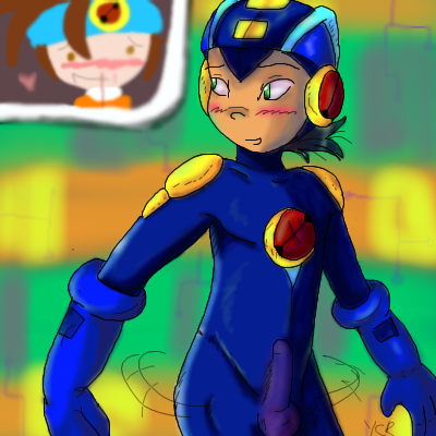 exe roll and exe megaman Dead or alive xtreme gif